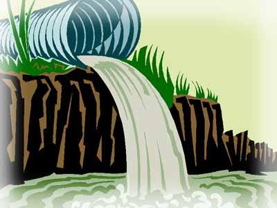 Сливной колодец для искуственного водоема.