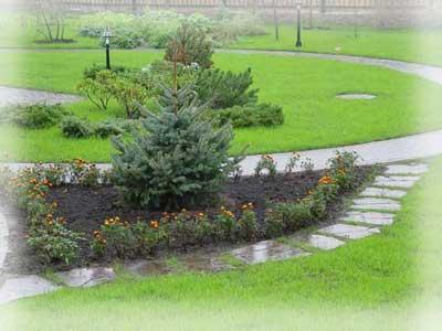 Дорожки в саду и на садовом участке.