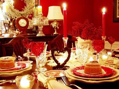 Сервировка стола для праздничного обеда